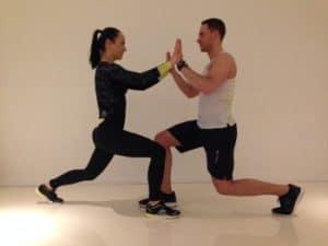 Lunge im Paar Fitness Übung