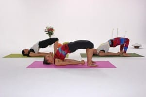 Yoga Übung die Brücke