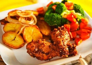 Bratkartoffel mit Chicken Wings