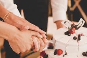 vegane Hochzeitstorte