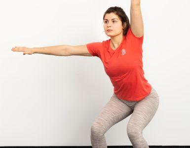 Aerobic zum Abnehmen von Bauch und Armen