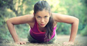Körpergewicht Training mit Push Ups