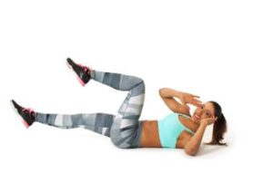 Fitness Übung twisted Crunches Übung